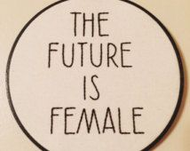 FEMINIST EMBROIDERY the future is female wall art embroidery hoop sexism feminism intersectional