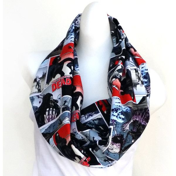 Walking Dead Scarf Michonne Walking Dead Infinity Scarf Zombie Circle... ($17) ❤ liked on Polyvore