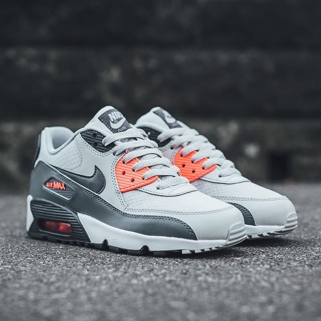 3b92ddbef1 Nike Air Max 90 Mesh: Pure Platinum/Cool Grey-Lava Glow-White | Kicks in  2019 | Nike Air Max, Sneakers nike, Air max sneakers