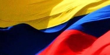 Ondeante la bandera de Colombia