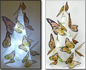 Lovely Lighted Butterflies Lamp   AllFreePaperCrafts.com