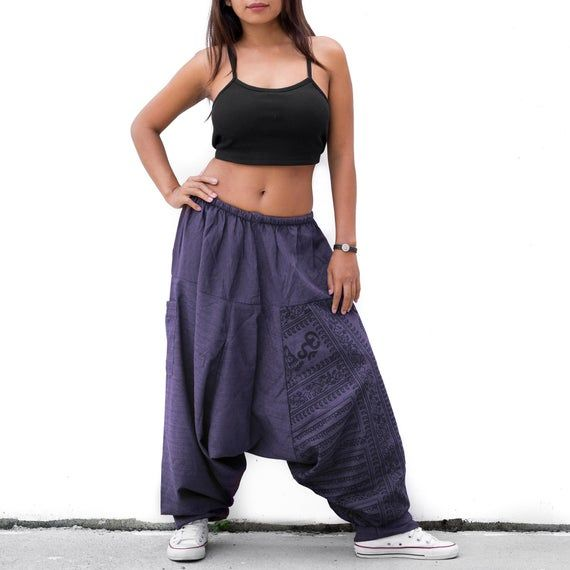Buddhist Om Pants Harem Pants Baggy Pants women men Casual Pants Buddhist Boho Pants women men Yoga Pants