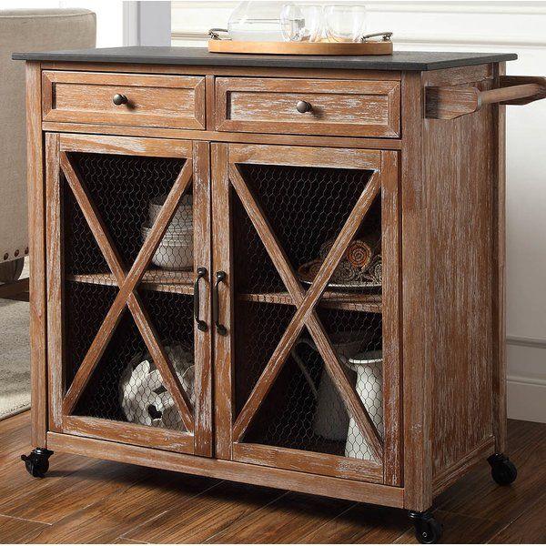 Gemma Two Door Kitchen Cart With Granite Top Linon Kitchen Cart Granite Tops