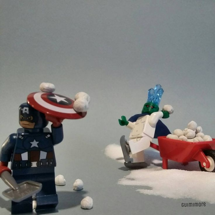 America vs Snowzilla  #captainamerica #snowzilla #snow #snowball #snowballfight #marvel #blizzard #winter #snowstorm #eastcoast #usa  #newyork #nyc #LEGO #minifigures #minifig #legography #toy #afol