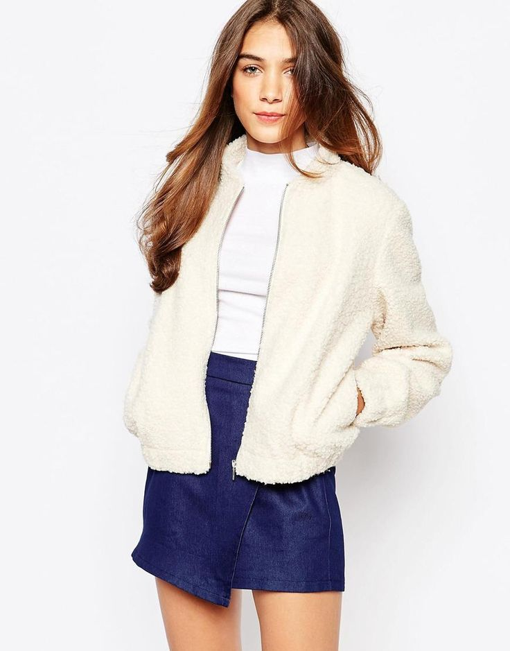 Suede and shearling bomber jacket – Modern fashion jacket photo blog