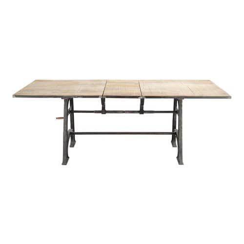 Tavolo allungabile per sala da pranzo in massello di mango e metallo L 180 cm