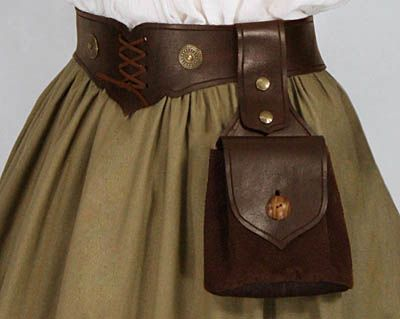 "Leather Bag ""Wotan"" No. 2 - 41.00 USD - Medieval and Renaissance Clothing, Handmade by Your Dressmaker"