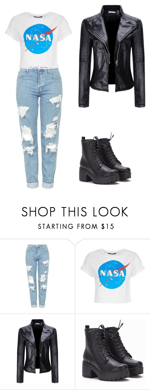 Feelin' Hype?? by skylarmuffin on Polyvore featuring WithChic and Topshop