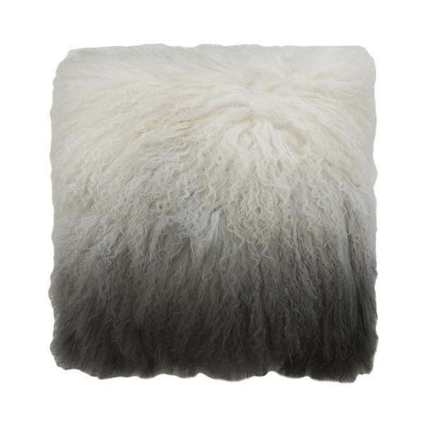 Kerridge Linen   Cushion Tibetan Lamb Fur Square Ombre   Shut the Front Door