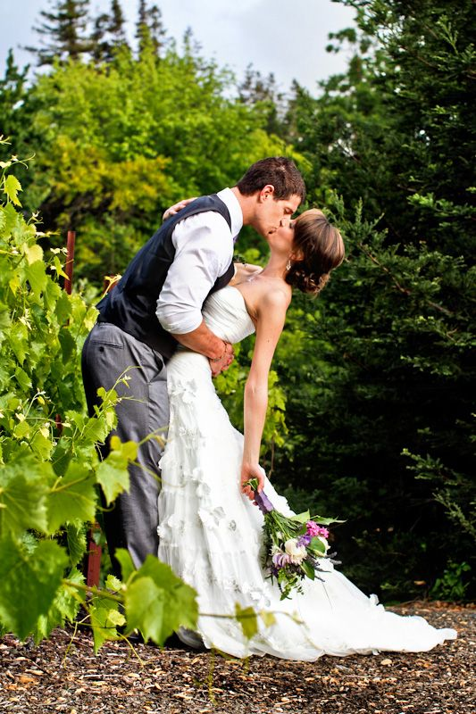 Brooke Photography & Design - A romantic vineyard moment.  One of my favorite wedding couple photos!