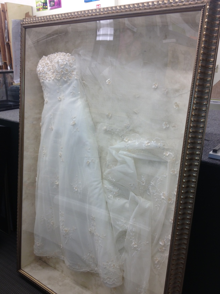 Framed wedding dress diy ideas pinterest for What to do with my wedding dress