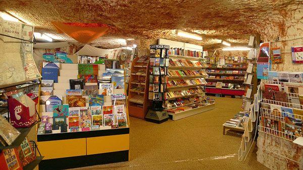Underground bookstore in Coober Pedy, Australia