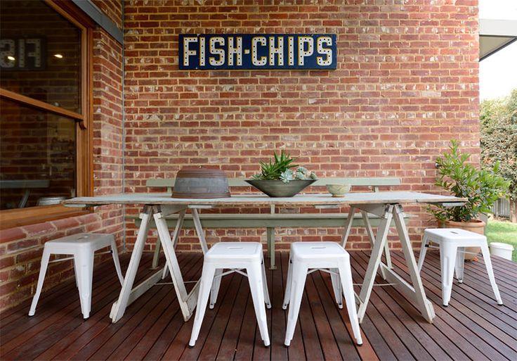 15 lindas ideias de mesas de cavaletes para você se inspirar - limaonagua