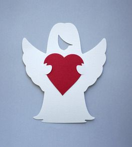 Валентинка. Ангел с сердцем.
