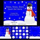 """Snow, Snow, Snow Koosh Ball Game for the SMARTBoard This is a Koosh Ball Game for students that do not have good aim when throwing a koosh ball at the SMARTBoard. Every inch of the SMARTBoard is covered with either snowballs or snowflakes linked to a question page. There are 20 template question pages linked to the home page. No more saying, """"Give it one more try to hit a snowflake."""" $"""