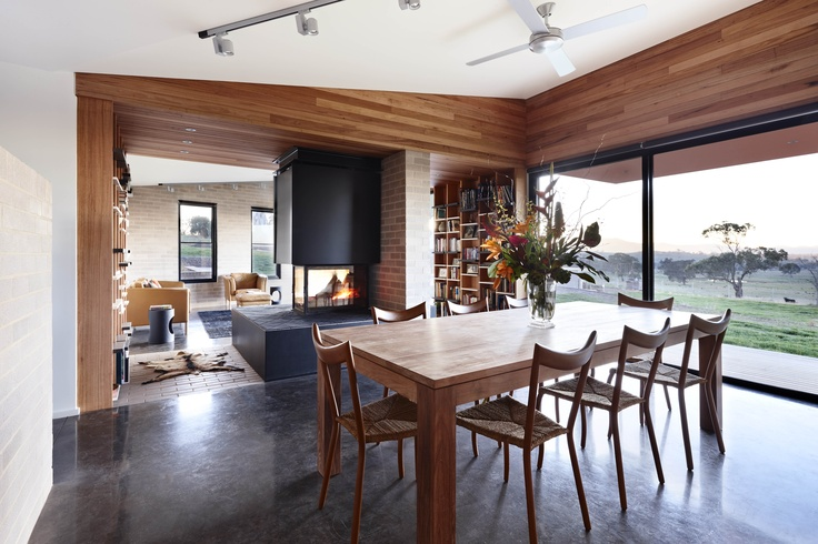 Dining space from the Mansfield House in Ep 1 of Grand Designs Australia Series 3