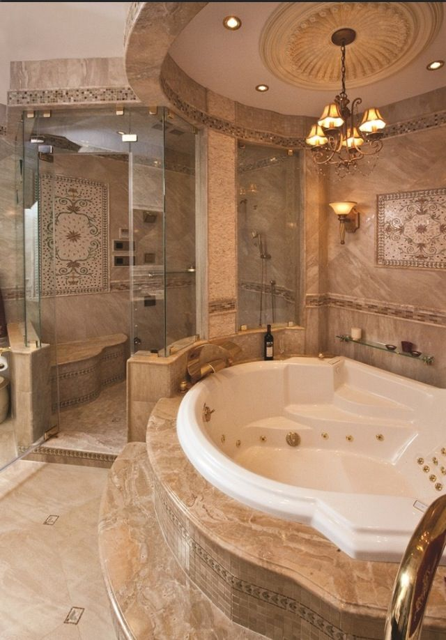 Room For Tub B/w Shower And WC? 50 Amazing Bathroom Bathtub Ideas   Donu0027t  Like The Overly Ornate Decor, But Love The Jetted Tub And ...