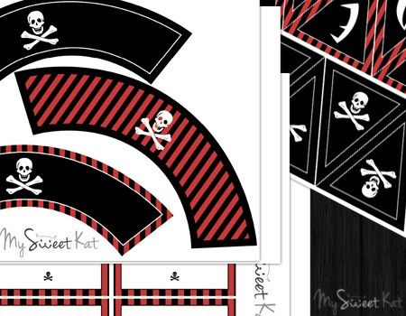 Kit à imprimer pour sweet table. Thème pirate #sweettable #pirate