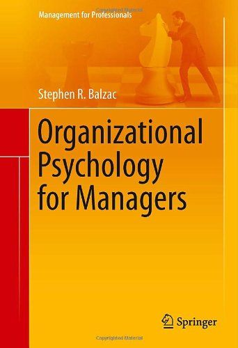 I'm selling Organizational Psychology for Managers (Management for Professionals) by Stephen R Balzac - $30.00 #onselz