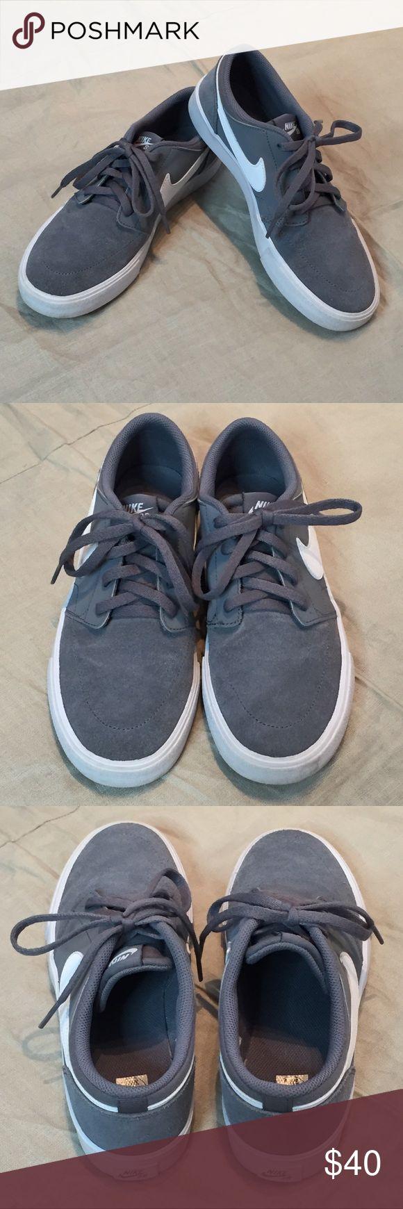 NIKE SB Portmore gray suede skate shoes sneakers 5 NEW boy's Nike SB Portmore gray suede skate shoes. Size 5 YOUTH. Nike Shoes Sneakers