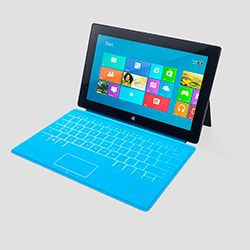 I would like to have one! The Surface, Microsoft's first tablet. The full-size keyboard built right into the cover makes work easy, the very smart kickstand makes watching a movie or Skyping a friend a delight, the less than a pound-and-a-half weight makes a great alternative to a laptop.