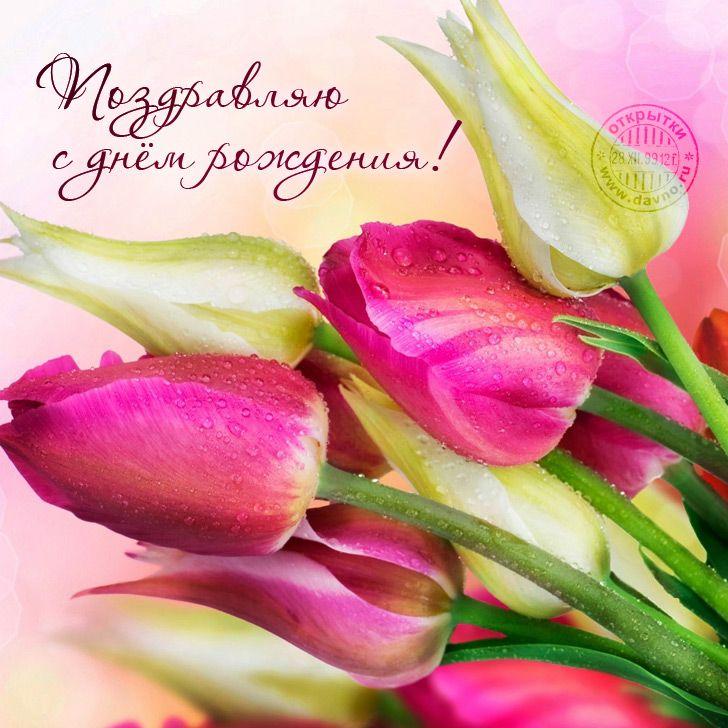 Открытки с днем рождения весенние цветы это один
