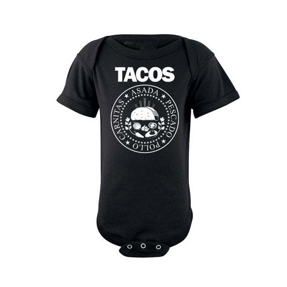 Baby TACO Onesie 100% Combed Ringspun Cotton Easy Tear