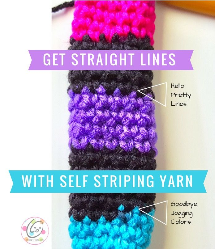 Quick tip to avoid the color jog with self striping yarn.