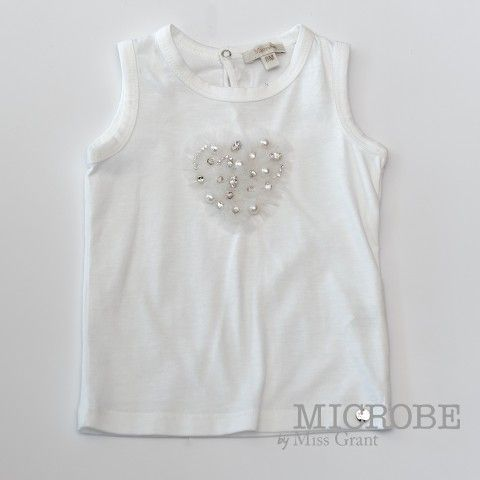 SINGLET WITH RHINESTONE. Sale 50% off Spring&Summer Collection!