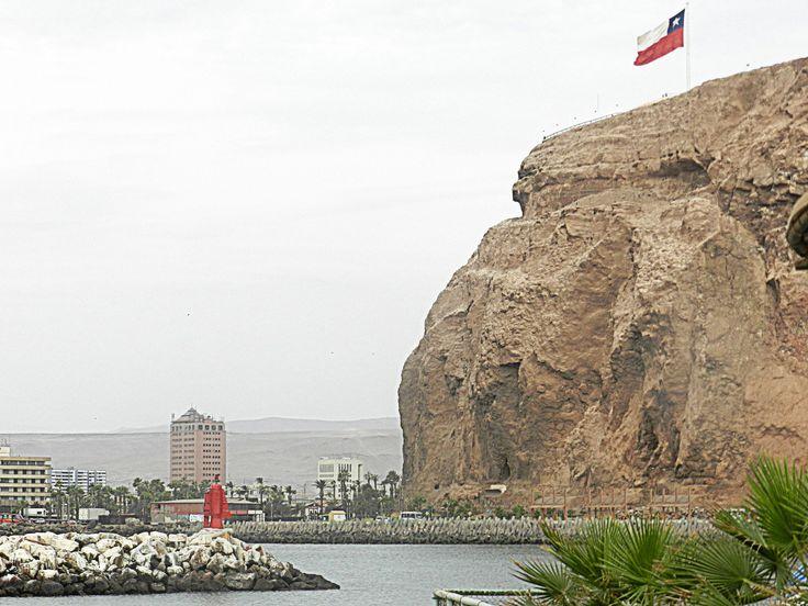 Vista del Morro de Arica.