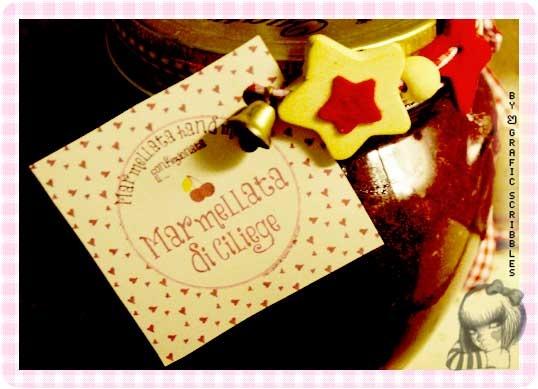 Etichetta stampabile gratuitamente per Marmellata di ciliege hand made