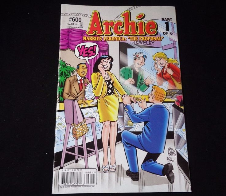 """Archie Comics Marries Veronica: """"The proposal"""" # 600 Part 1 of 6"""