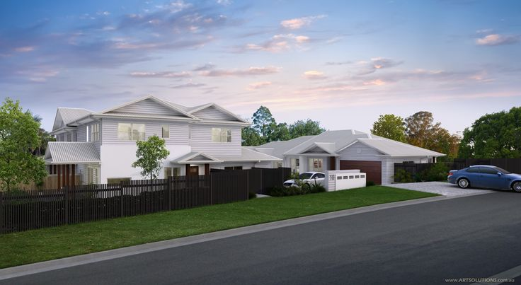 An artist impression of new townhouses by Highlife Homes.