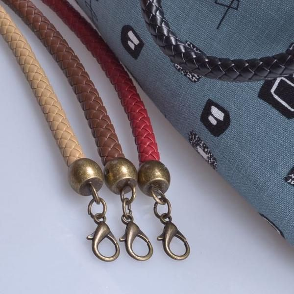 Leather Braided Bag Handles