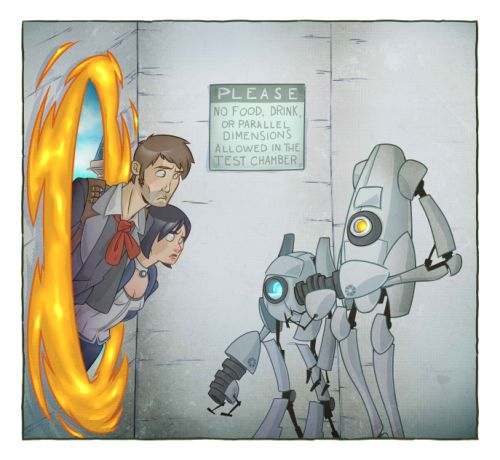 Bioshock meets portal