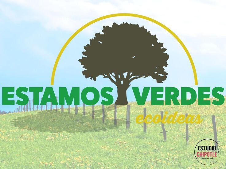 Un buen Lunes lo comenzamos compartiéndoles el nuevo diseño del logotipo ¡Estamos Verdes! Programa de radio en el cual encontrarás ecoideas, agricultura orgánica, recetas saludables y muchos consejos para que cuides de tu cuerpo. ¡En Chipotle nos encanta diseñar! www.estudiochipotle.com