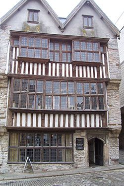 The Tudor building – the Merchants House, Plymouth, UK 1500's