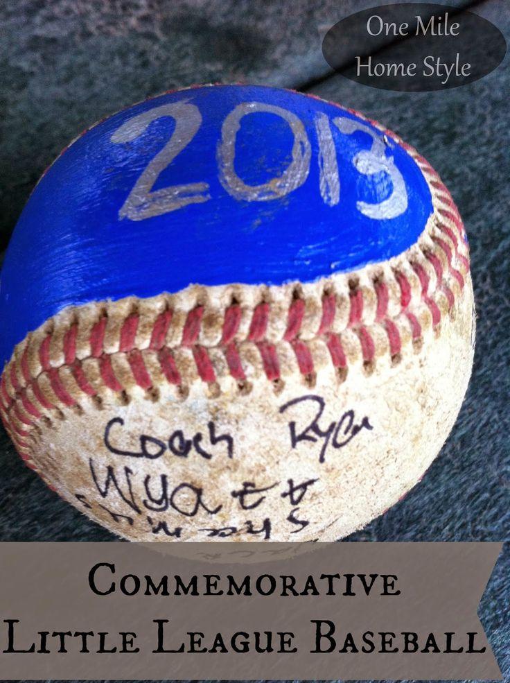 Celebrate the baseball season with this so easy autograph ball!! | Commemorative Little League Baseball - End of Season Gift