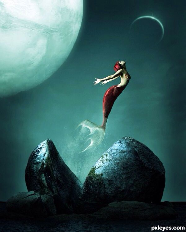 146 best images about ... Fantasy Mermaids On Rocks