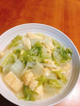 白菜と油あげのシンプルみそ煮込みうどん