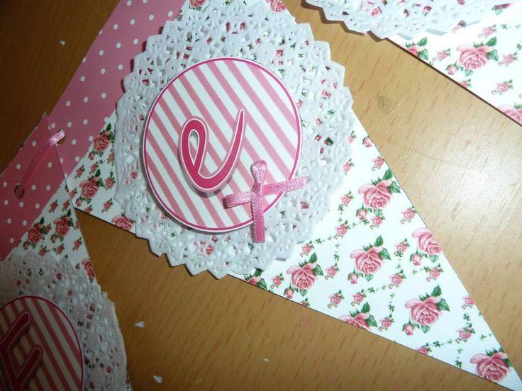 Bander n con blondas decoracion pinterest - Manteles shabby chic ...
