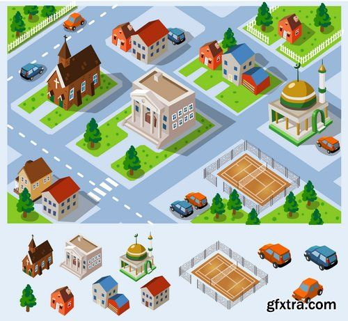 I like the style of this street map because of its strong colours also the stylised buildings witch have some edges that are not straight, adding a nice visual fell as well as a playful appearance.