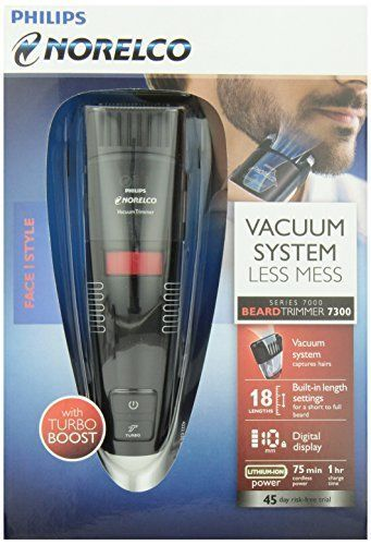 Philips Norelco Beard Vacuum Trimmer WAdjustable Length Setting Grooming Shaver #PhilipsNorelco