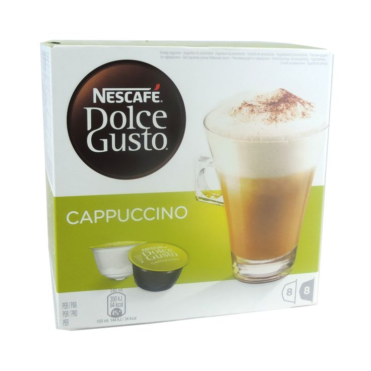 Coffee Drinkers - so quick and easy to make and enjoy - Nescafé - Dolce Gusto - Cappuccino Coffee Pods - http://www.healthyfoods-online.com/nescafe-dolce-gusto-cappuccino-coffee-pods-8-drinks-200g.html