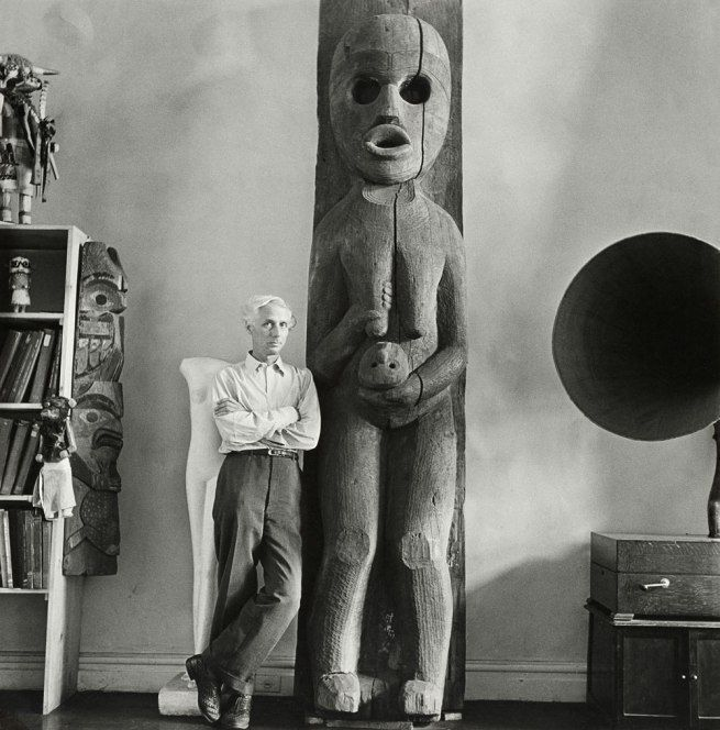 'Max Ernst at Peggy Guggenheim's home, New York, fall 1942' 1942 by Hermann Landshoff
