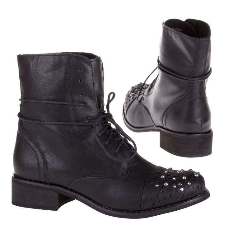 Damen Schuhe Stiefeletten designer Used Optik Echtleder Boots 8881 Schwarz 38