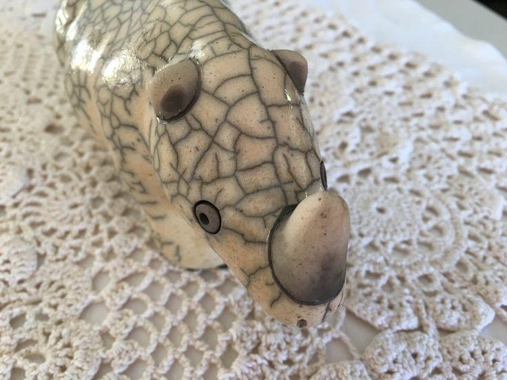 Ceramic Rhinoceros by YNotTreasures on Etsy