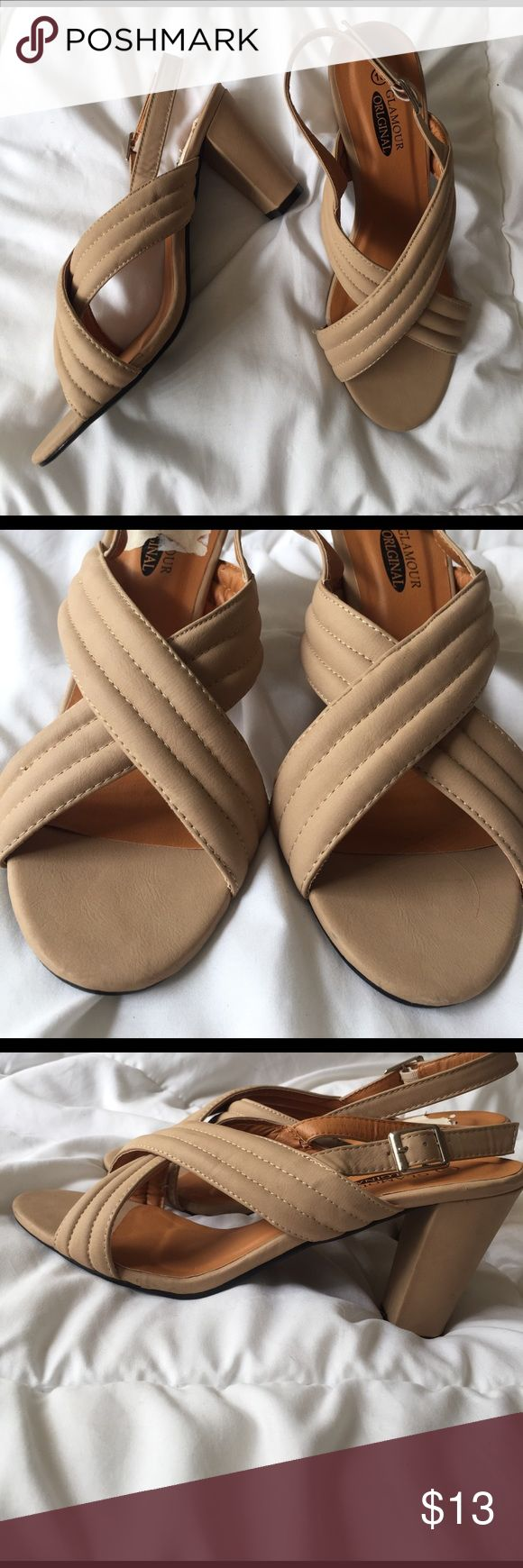 SEND ANY OFFER! Nude Strappy High Heels Sandals Brand new. Has never been worn. NEW WITHOUT THE BOX! Send me ANY offer!! Shoes Heels