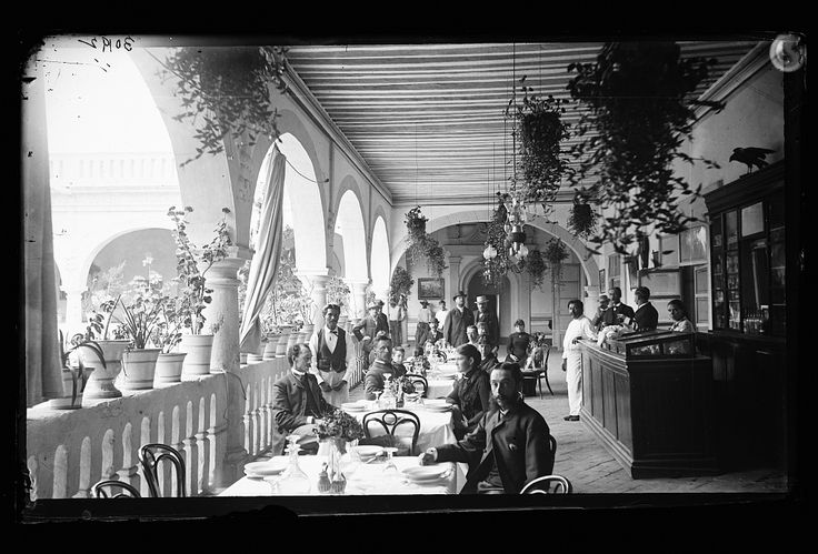 [Veranda restaurant, corridors of the Hotel Diligencias, Puebla, Mexico] | Library of Congress