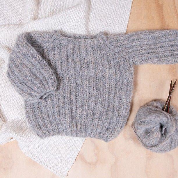 strikket genser for liten